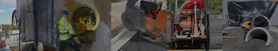 Bush hammering of concrete